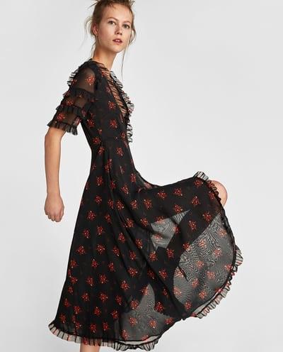vestido escote zara 2